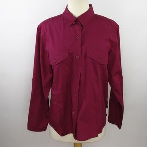 Woolrich Blouse Size Large Long Sleeve 100% Cotton